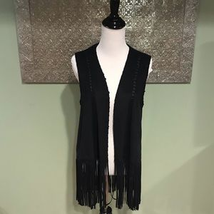 Zara Trafaluc Outerwear Fringe Vest
